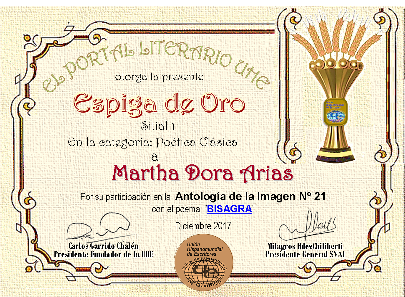 MARTHA DORA ARIAS