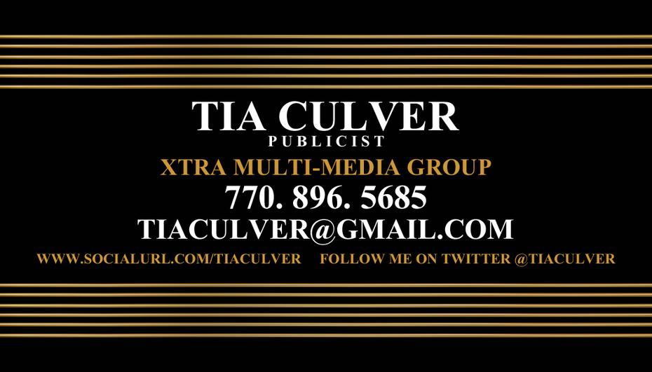 TIA CULVER - PUBLICIST / ATLANTA