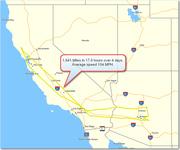 1,841 miles to Mesa Arizona and back