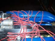 Engine top view of plug wire run