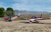Two Red Zenith aircraft at Kelso Valley dirt strip (CN37)