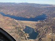 Castaic Lake from 7500' in the Sierra Pelona Mountains