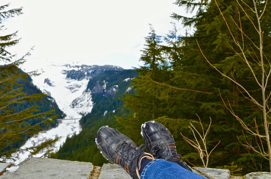 Mt. Rainier Foot Shot
