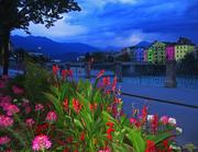 AUT Innsbruck Herzog-Otto-Strasse (Alte Innbruecke) [Inn] {in the blue hour} by KWOT