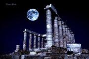 Sounio Temple of Poseidon. [Σύνθεση φωτογραφιών σε σκηνή]