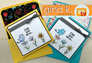 Bold and Blooming- Happy Spring cards and envelopes