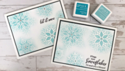 Sparkling Snowflakes card featuring the new StampTV Kit!