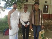 Wtih The People who are acting beyond the differences of Cast and Colour - On 16th Oct, 2014 - His Holyness Shri Thridandi Ramanuja Chinna Jiyyar Swamiji and Ahobila Jiyyar Swamiji, Devanthar Jiyyar S