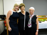 Julie Gilbert, Marie Wilson and Lee Chalmers