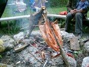 primitive salmon bake