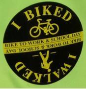 i biked to work