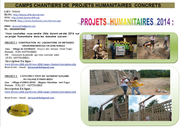 projets humanitaire 2014