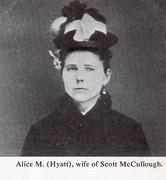 Alice m. Hyatt Wife of Scott McCoulgh