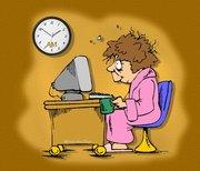 Me at computer