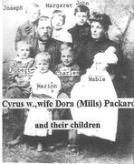 Cyrus Winfield Packard and Dora A. Mills holding Mable Hattie Packard and family