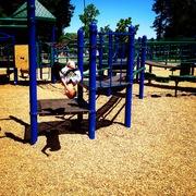 Little Guy doing a backflip at a San Jose park