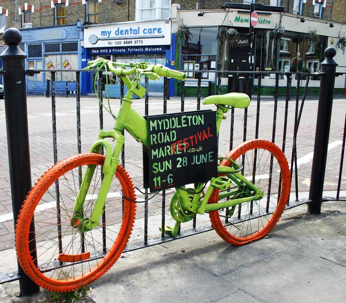 Myddeton Road Market and Festival promotional bike