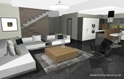 Návrh interiéru domu - 3D vizualizácia