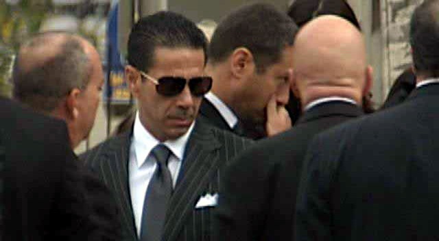 Joey Merlino at funeral in Philly