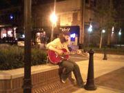 playing on street corner