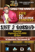 """official promo card for my Cd Release Concert """"Sent 2 worship"""""""