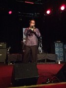 Jazz nominee Sam Hankins performing on stage at Whisky a Go Go