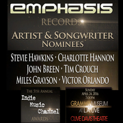 Emphasis Records Congratulates Its Indie Music Channel Artist & Songwriter Nominees