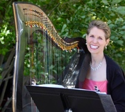 Anne Roos and her Carbon Fiber Harp