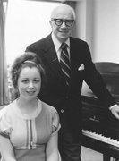 Sophia Agranovich with Sascha Gorodnitzki at his Juilliard studio