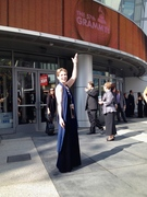 Harpist Anne Roos at the 57th GRAMMY® Awards