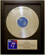 """Rolling Stones """"Blue and Lonesome"""" Platinum Plaque Award"""