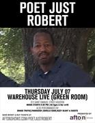 Poet Just Robert at Warehouse Green Room