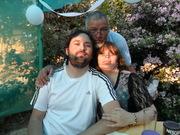 Mi esposo Bernardo, mi hijo José Miguel y yo.
