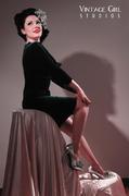 Deadly Dames Film Noir dress in emerald size XS