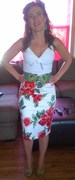 Floral Pinup Couture Pencil Skirt Size S