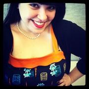 XL - Netti Dress in Tiki Print with Orange Trim