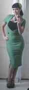 Veronica Dress Green/Black , size XS