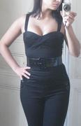 Vamp Top, black, XS