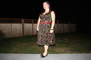 Heidi Dress in Black Cherry