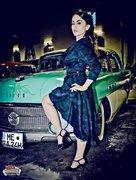Birdie Dress in Peacock Print S
