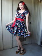 Deadly Dames Rock N Roll Babydoll Dress
