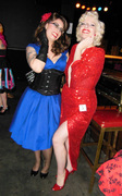 Posing with Kitten at Miss Pinup Canada 2014