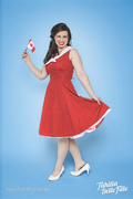 Tahitia's Nautical Sailor Dress in Red for Canada Day