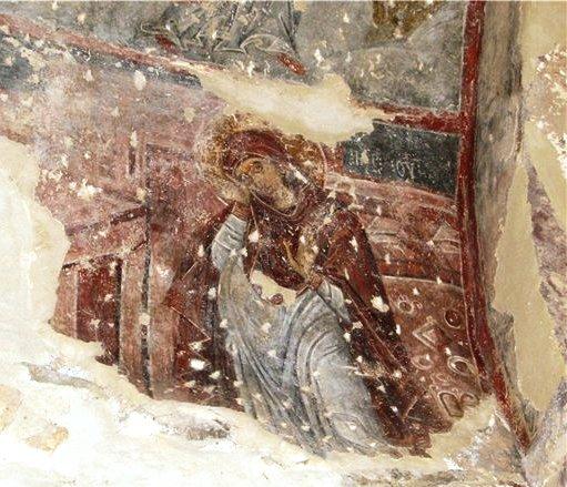 მიდგომილი ღმრთისმშობელი - ერთადერთი ფრესკა საქართველოში