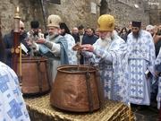 წყლისკურთხევა სვეტიცხოველში ნათლისღებას