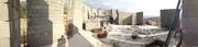 მშენებარე ეკლესია ზაჰესში. პანორამა
