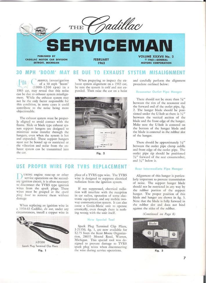 1963 Cadillac Serviceman pg7
