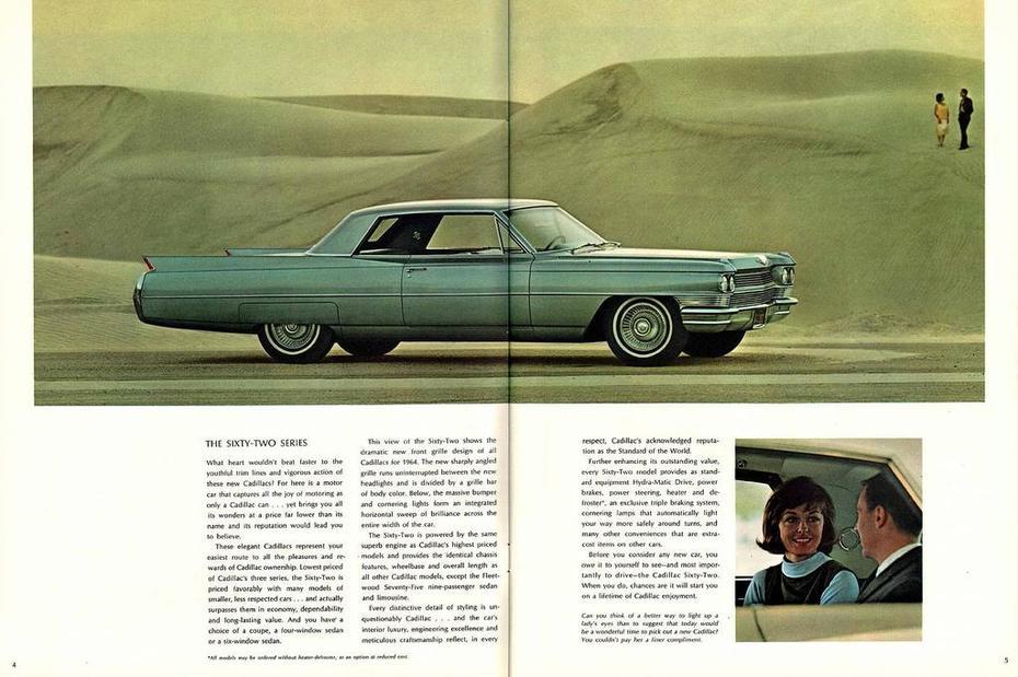 1964 Cadillac Brochure Page 4-5