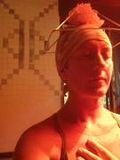 pyramid hat  crystal murial