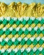 Babydecke - Sternchenmuster - gelb